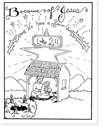 nativity coloring sheets for christmas
