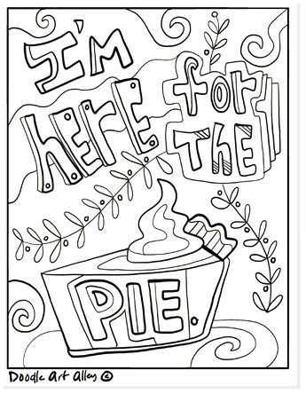 I'm here for the pie coloring page