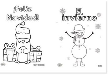 spanish kids coloring sheets