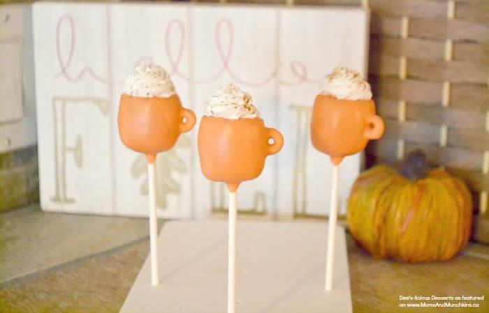 pumpkin spice latte cake pops - Cute desserts for thanksgiving