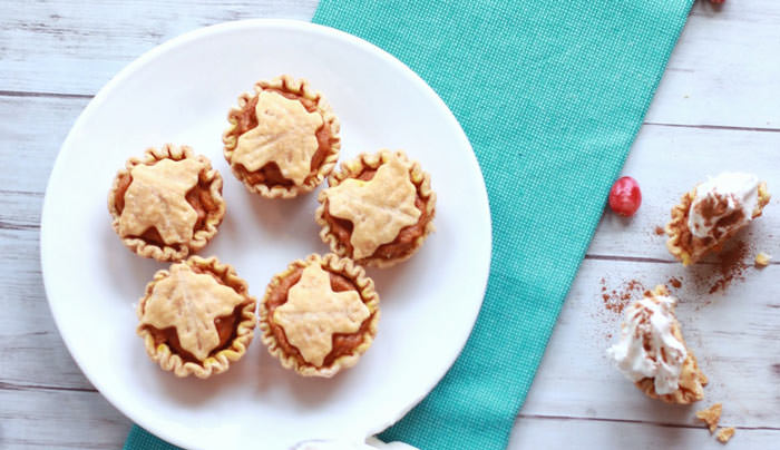 pumpkin tarts - Cute desserts for thanksgiving