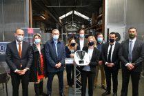 Signature accord du partenariat entre Bourgeat et Vorwerk pour la fabrication du bol mixeur du Thermomix, en présence de Agnès Pannier-Runacher,