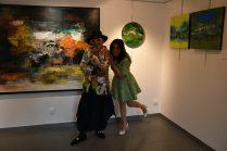Jean-Luc Boun et Emma Henriot à la Galerie d'Art Emma à Malleval