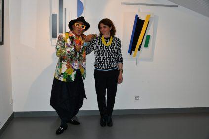 Jean-Luc Boun et Nelly Schwartz à la Galerie d'Art Emma à Malleval