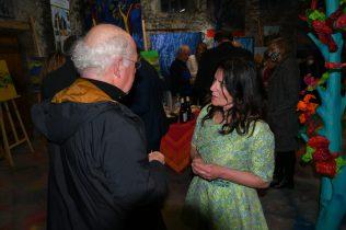 Emma Henriot lors du Vernissage de exposition de 7 artistes Internationaux à la Galerie d'Art Emma