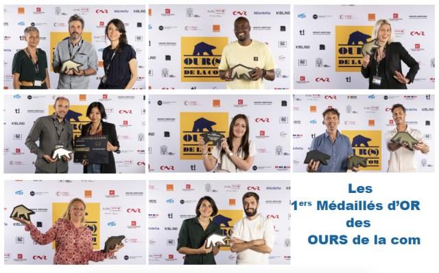 Les 1ers Médaillés d'OR des OURS de la com
