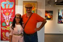 les artistes Thierry Lambert, Emma Henriot à l'expo à la Galerie d'Art Emma