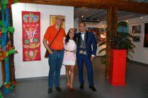 les artistes Thierry Lambert, Emma Henriot, Gregory Blin, à l'expo à la Galerie d'Art Emma