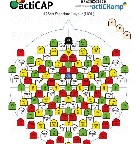 NEW 128ch Standard Layout (UOL) for actiCAP and actiCHamp caps.