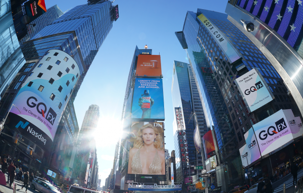 GQFX says hello to the world via Time Square NYC, leading a New Era of Foreign Exchange 10