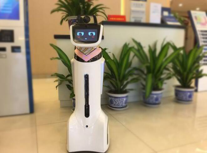 German LIECTROUX Bank Staff Robot Debuted In The 2018 Global Robotics Conference Powerful Performance Shows Great Value 1