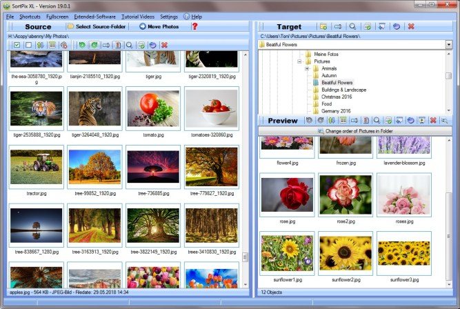 New Highly Accessible Duplicate Photo Finder Application SortPix XL 7