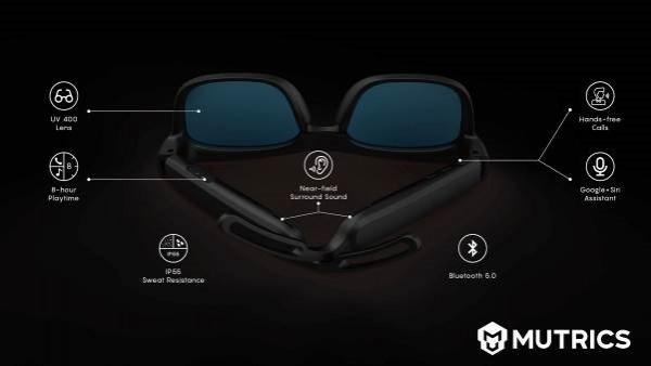 Mutrics Announces The Launch of MUSIG-X Stylish Smart Audio Sun Glasses 1
