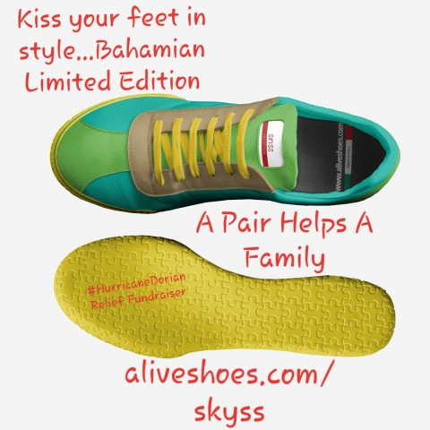 Struggling Single Mother and New Shoes Designer Launches Its First Sneakers Donating Profits to Hurricane Dorian Relief Fundraiser in the Bahamas 1