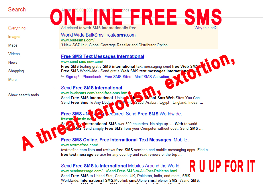 Free SMS online can be a threat in terms of security | Press