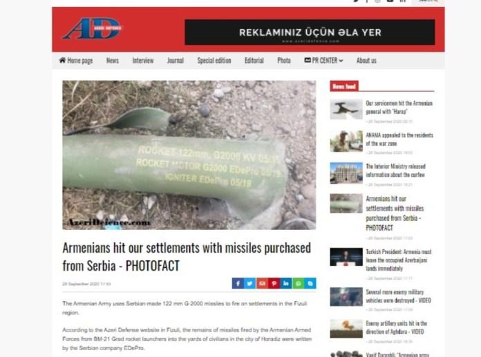 JERMENI BOMBARDUJU AZERBEJDŽAN SRPSKIM RAKETAMA!