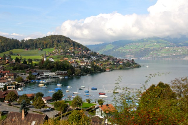 Spiez-Interlaken, bord lac de Thoune