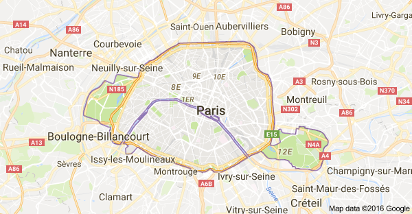 Carte Paris Google