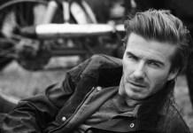 David Beckham Belstaff model image