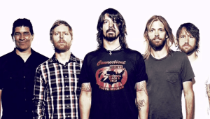 Foo Fighters Bandfoto mit Dave Grohl
