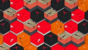 NIKE Sneaker Boxes Art project Foto: ForasEngine