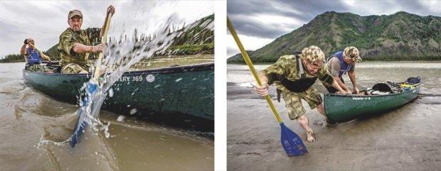 Till Lindemann und Joey Kelly - Abenteuerreise auf dem Yukon River in Alaska © National Geographic Verlag