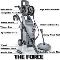 THE FORCE 2000 1.6 GPM 2000 PSI Electric Pressure Washer