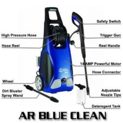 AR Blue Clean AR383 1900PSI 1.5GPM 14Amp Electric Pressure Washer