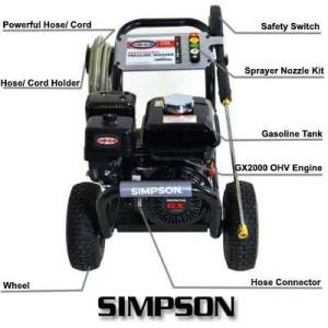 SIMPSON PS3228-S 3200 PSI at 2.8 GPM Gas Pressure Washer Review