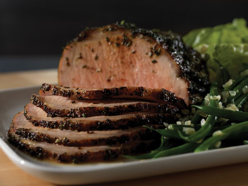 Herb Crusted Roasted Pork Roast