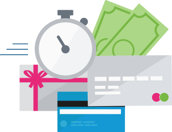 Accetti subito i diversi metodi di pagamento