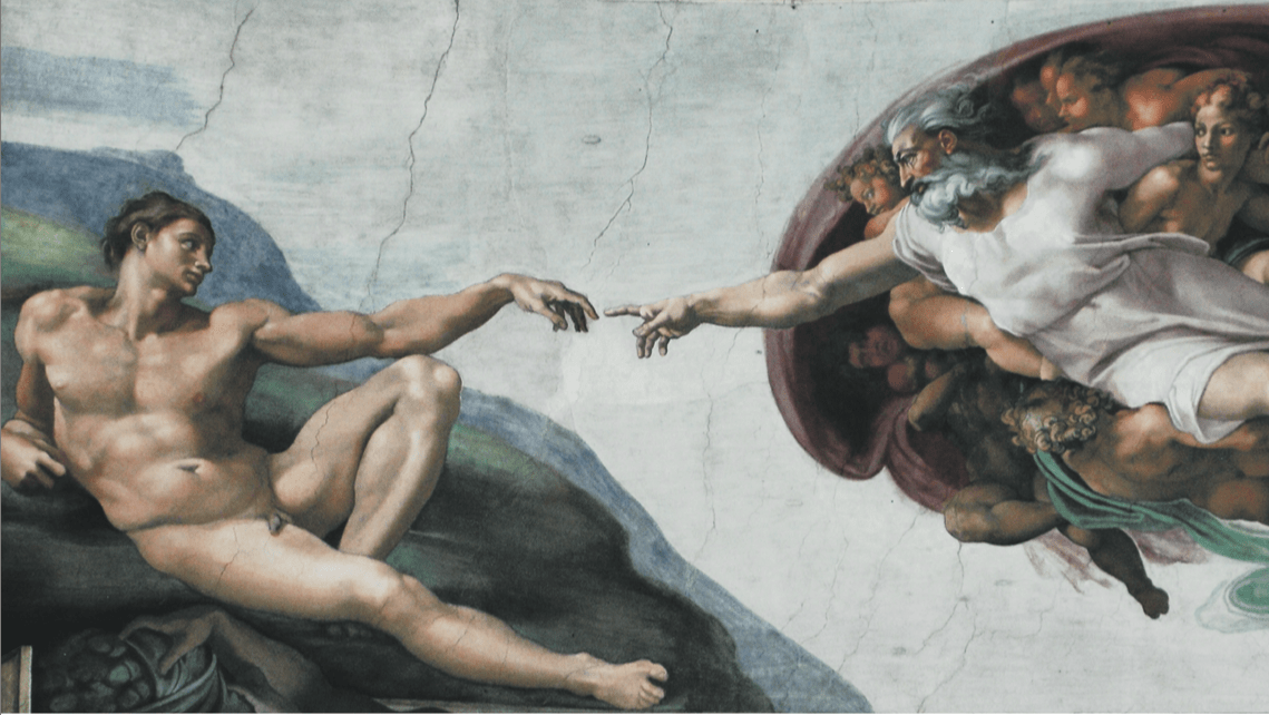 The Creation of Adam, by Michelangelo