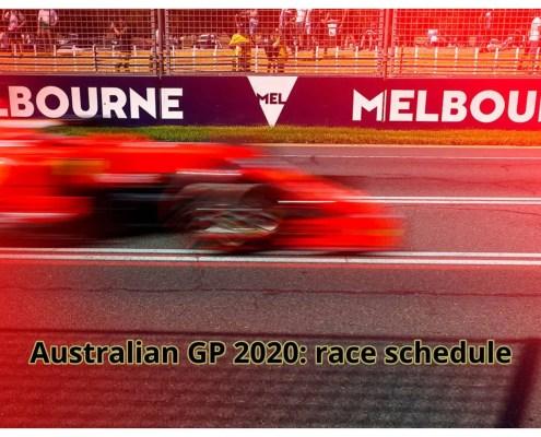 F1 2020 australian gp melbourne