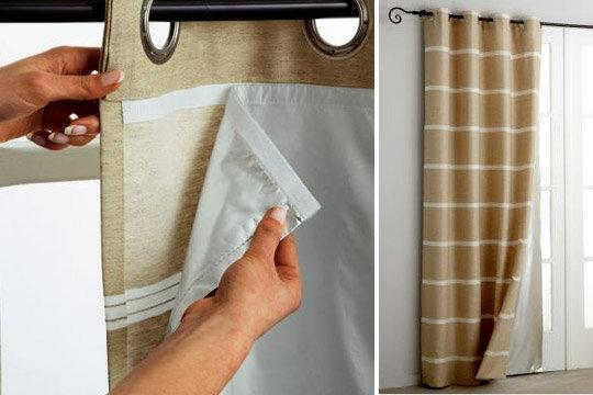 astuces de doublure et mesures des rideau doubl de la fen tre. Black Bedroom Furniture Sets. Home Design Ideas