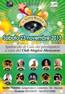 A Pescara la 25° Notte Magica