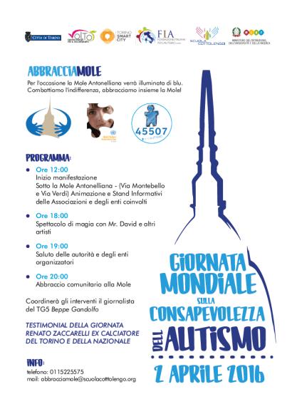 Volantino Giornata Mondiale Autismo 2016