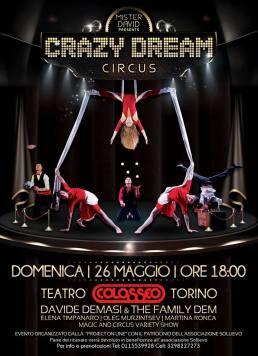 Mister David - Crazy Dream Circus - Teatro Colosseo 26 maggio 2019 - Torino