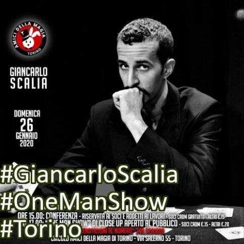 Circolo Amici della Magia Domenica 26 gennaio Conferenza e One Man Show di Giancarlo Scalia instagram