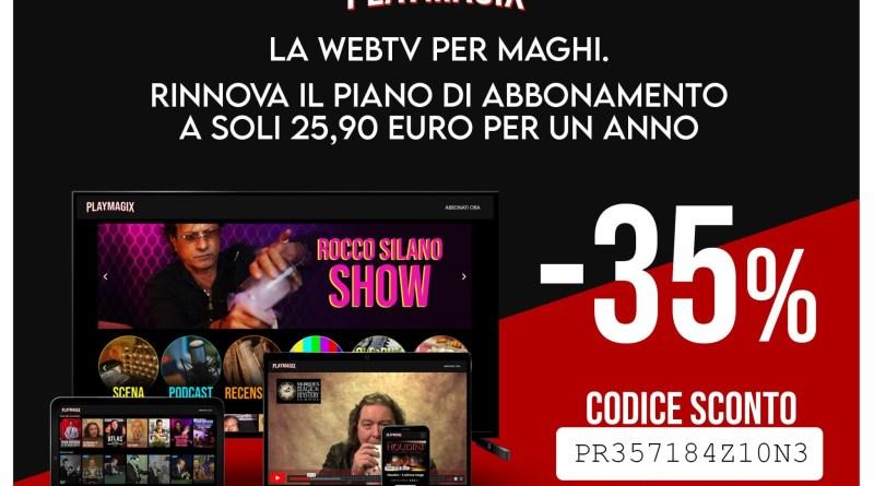Francesco Scimemi su PLAYMAGIX: Codice Sconto per i lettori di Prestigiazione.it