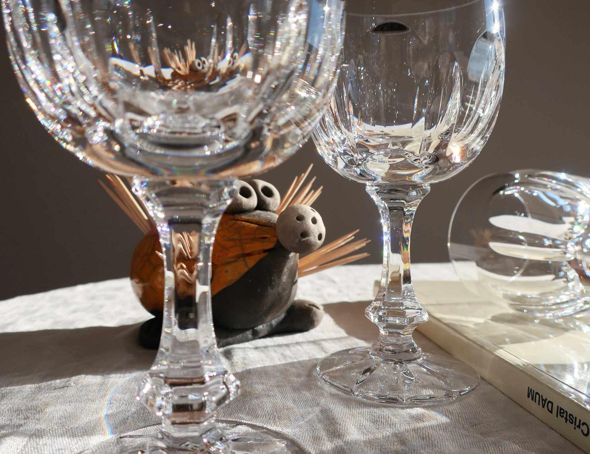 verre en cristal daum service chinon