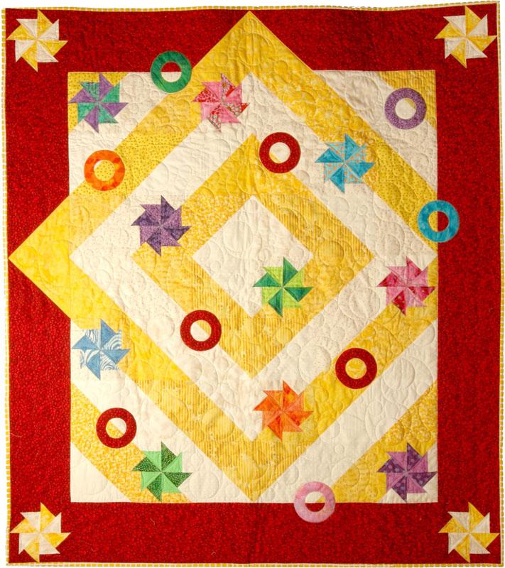 """Pinwheels and Rings - 48"""" X 54"""""""