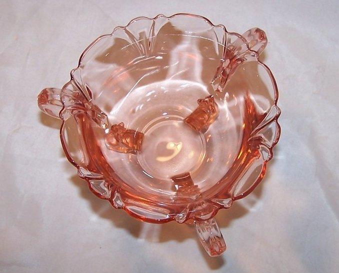 Elegant Depression Glass Footed Sugar Bowl Pink Heisey