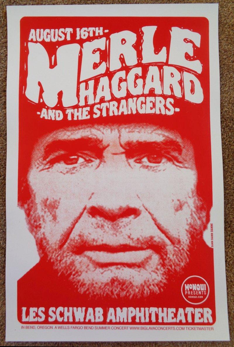 haggard merle haggard 2006 gig poster bend oregon concert