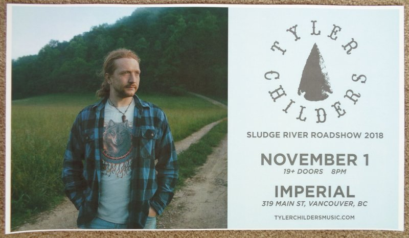 childers tyler childers 2018 gig poster vancouver canada concert