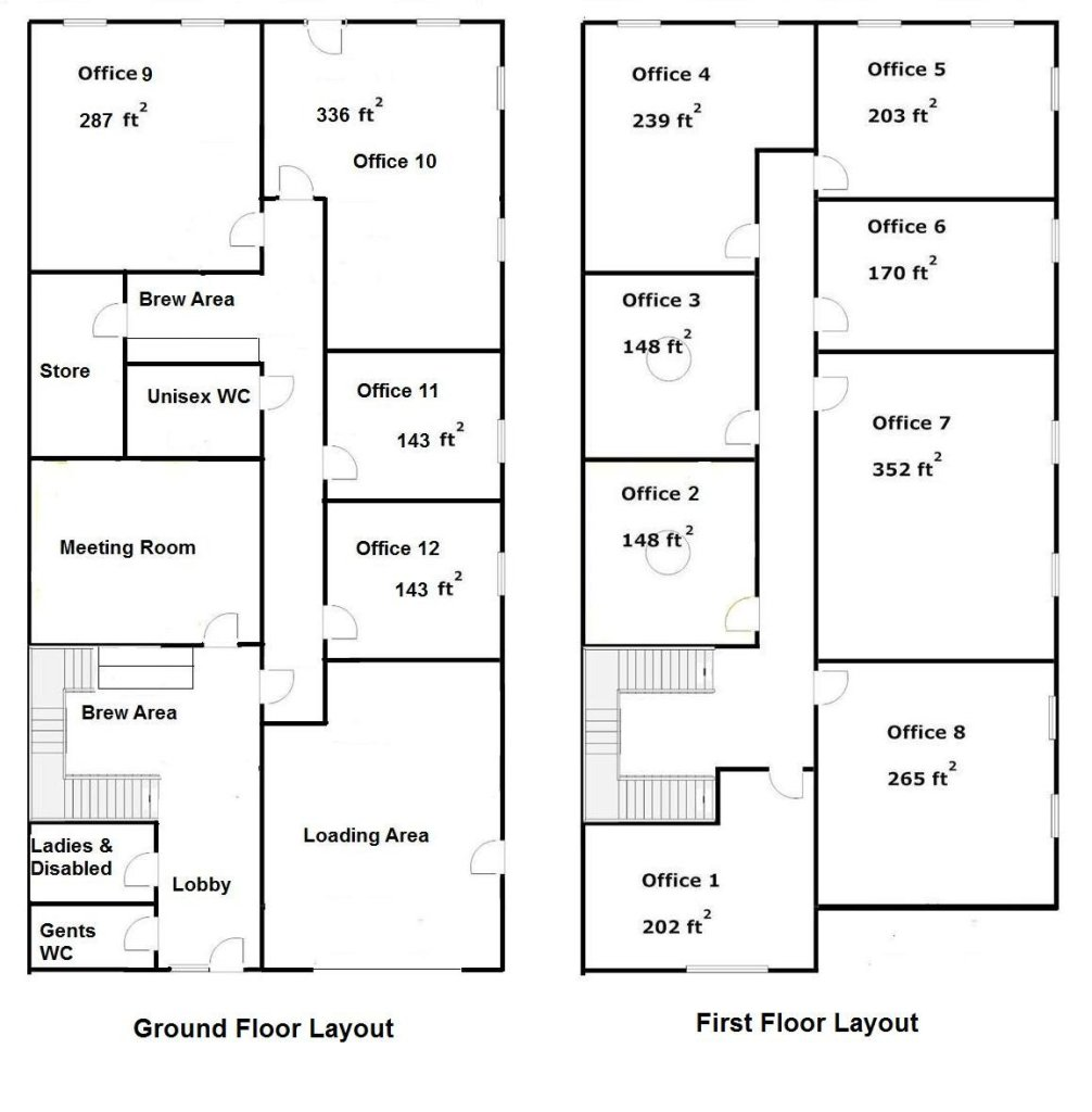 Layout at Barbury House, Commercial Offices in Preston