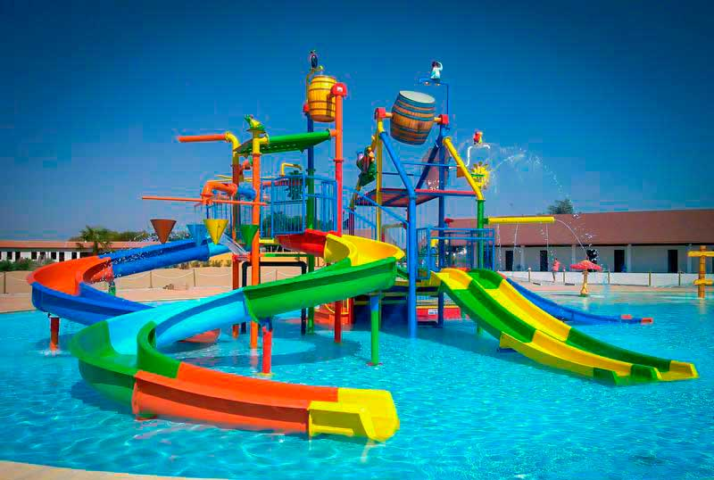 Water park - pool with playgrounds
