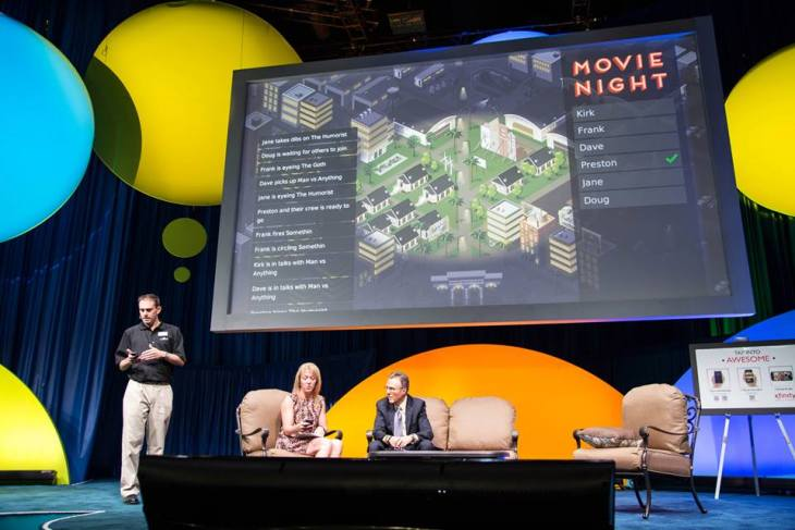 "Preston Smalley demoing ""Movie Night"" at Industry Conference"