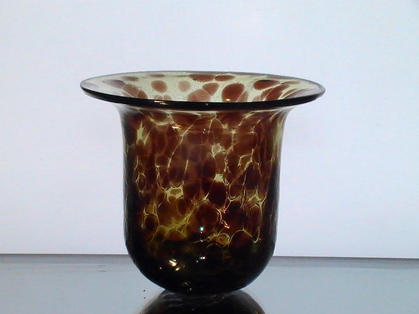 Hanging Candle Holder Bowl Leopard Print 425 X 475 Amber