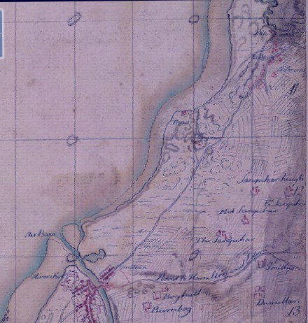 Prestwick Toll - Roy Map of 1755
