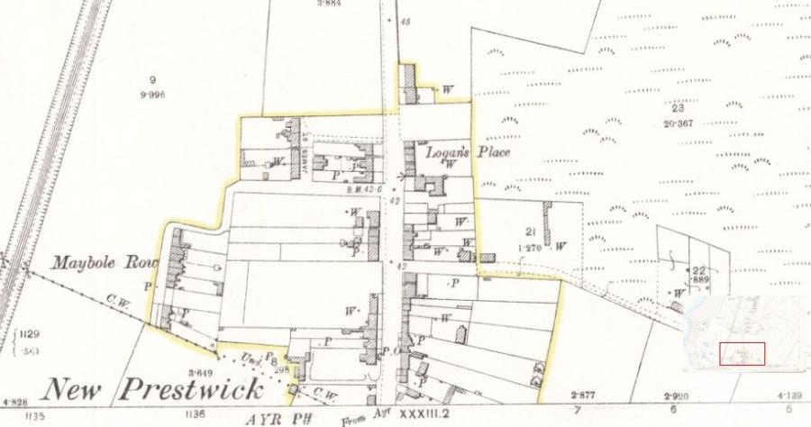 Prestwick Toll - 1892 Ordinance Survey Map
